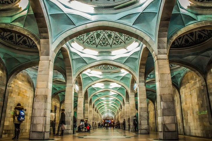 Ташкентское метро. СтанцияАлишера Навои.