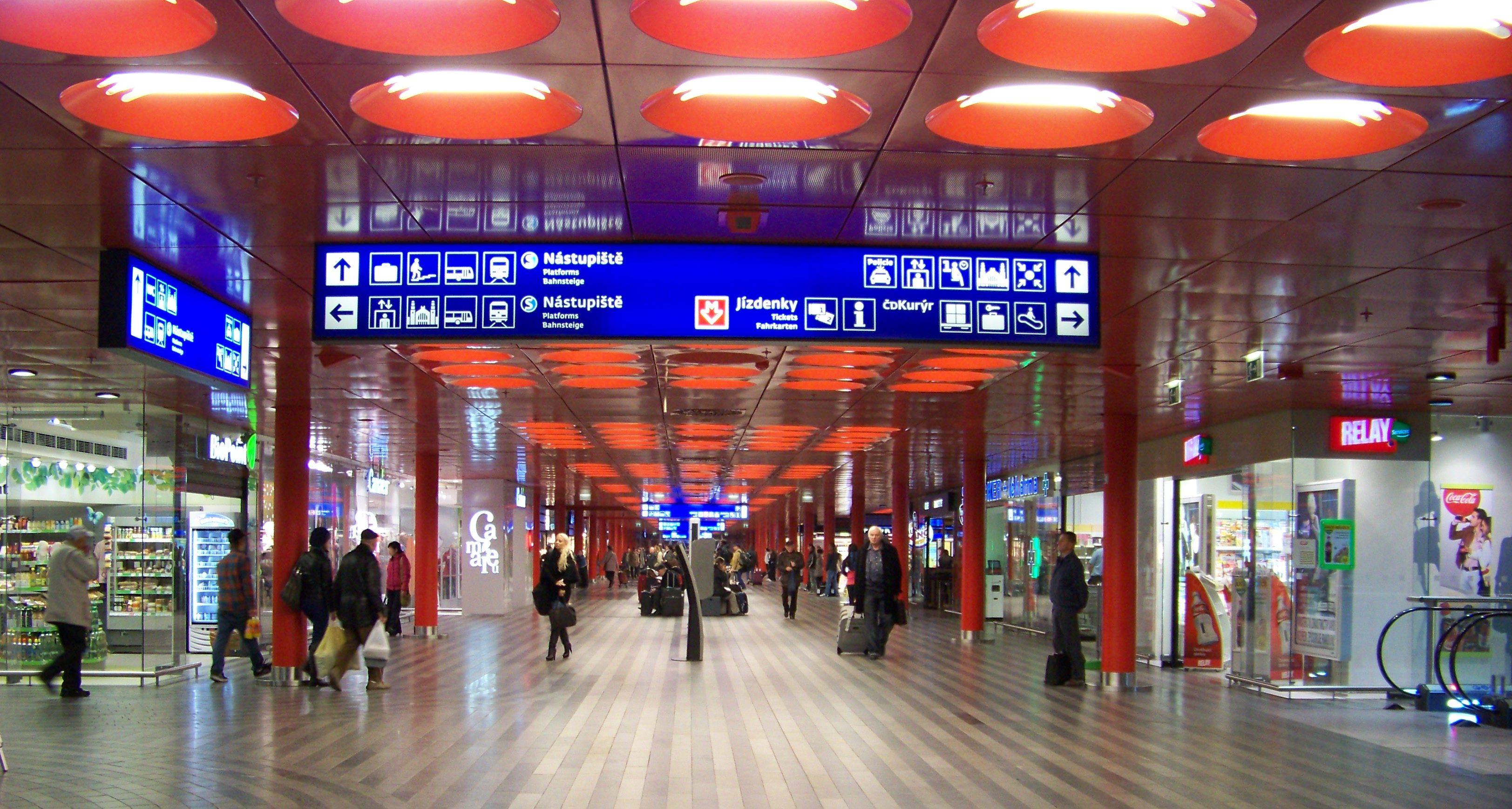 Вокзал. Прага.