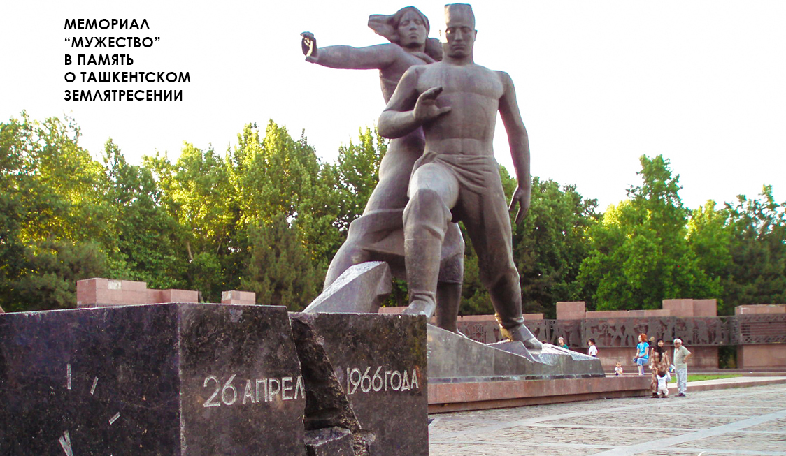 Ташкент, землетрясение, монумент Мужество