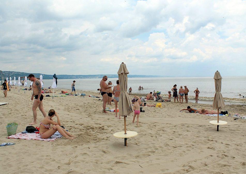 Пляж на курорте Кранево.