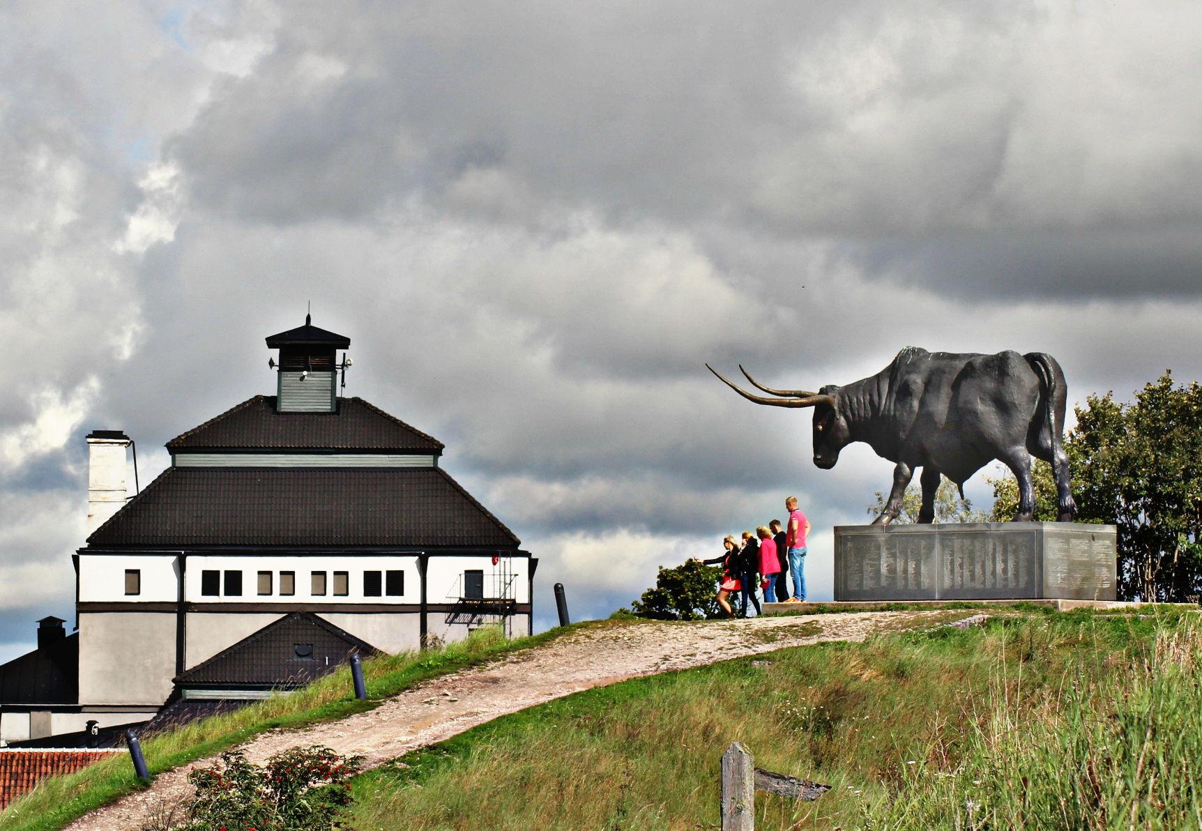 Памятник быку в Раквере.