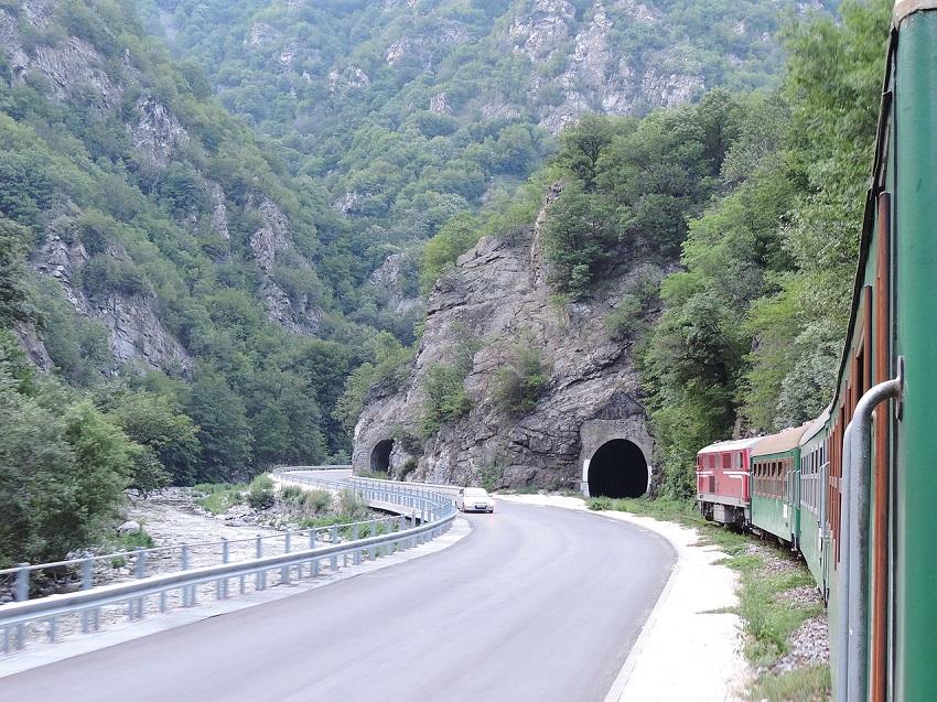 Поезд в Банско.