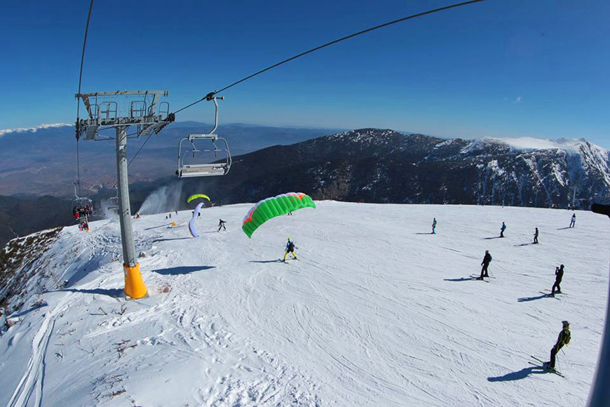 Подъёмники горнолыжного курорта Банско.