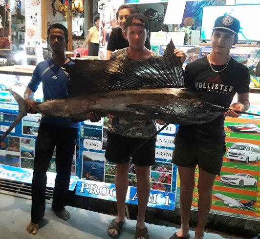 Показ пойманной рыбы