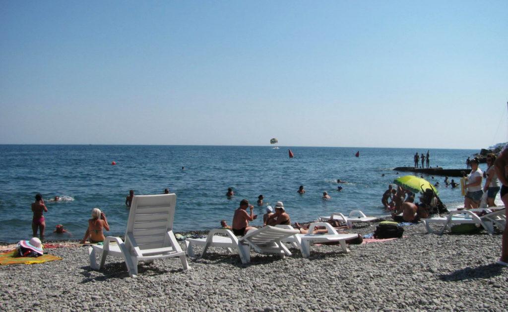 Пляж Чайка на пляже