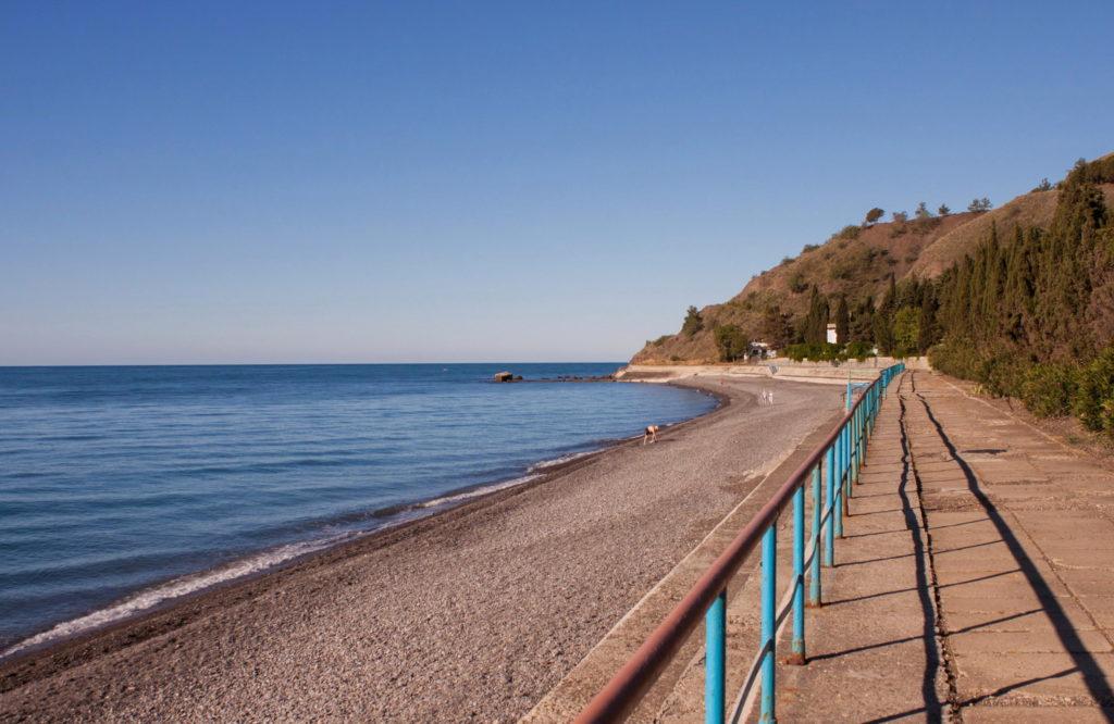 пляж пансионата Рассвет