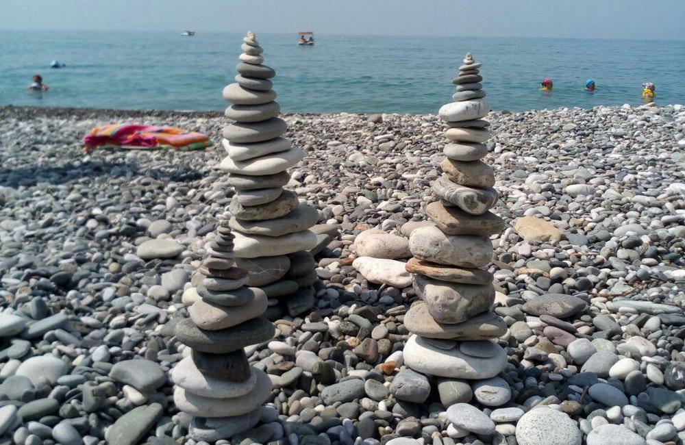 курорт Багрипш пляж