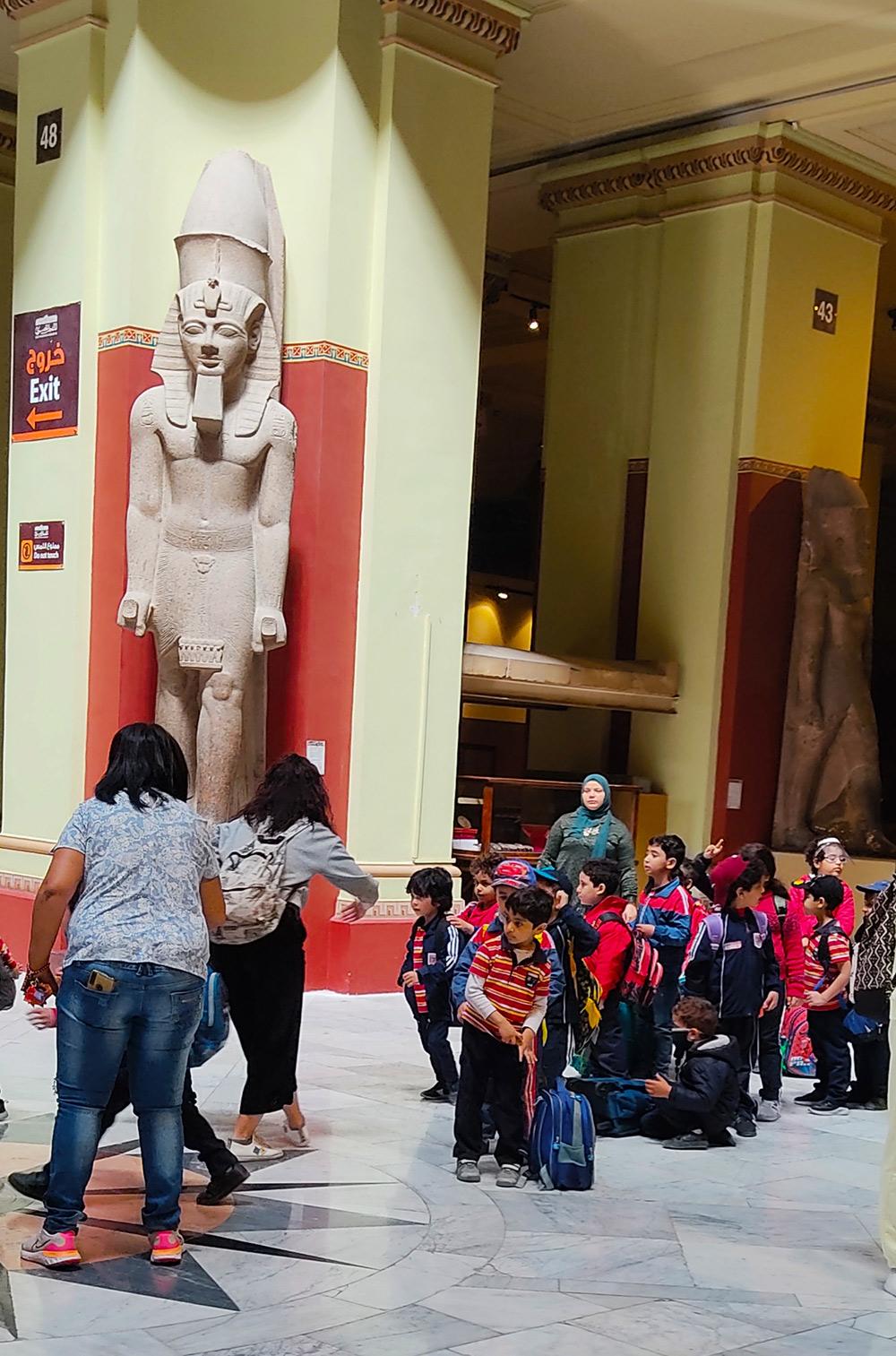 Статуя Рамзеса в Каирском музее