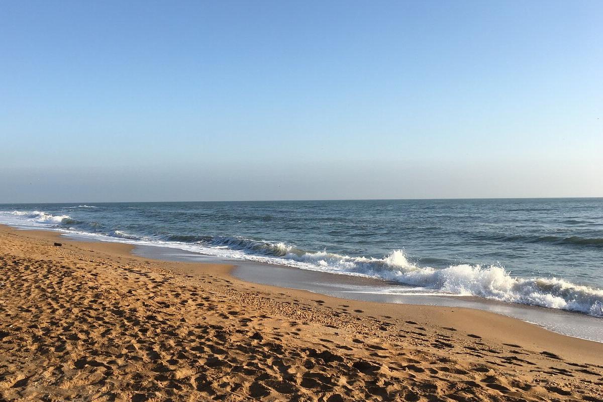 Пляж в Дербенте
