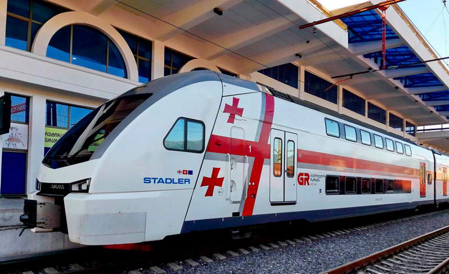 поезд в Грузии stadler